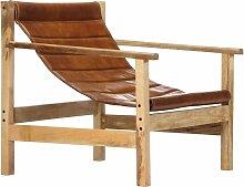 Vidaxl - Relaxsessel Echtleder Braun