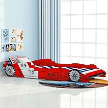 vidaXL Rennwagen-Bett 90x200 cm Rot
