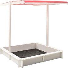 vidaXL Sandkasten mit Verstellbarem Dach