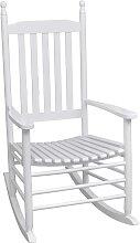 vidaXL Schaukelstuhl mit Gebogener Sitzfläche