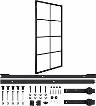 vidaXL Schiebetür Aluminium und ESG-Glas mit