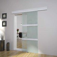 vidaXL Schiebetür Glas und Aluminium 178 cm