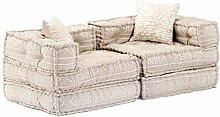 vidaXL Schlafsofa 2-Sitzer Modular Sofa mit