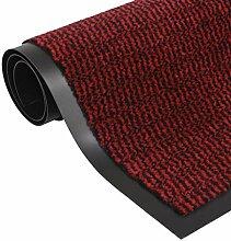vidaXL Schmutzfangmatte Getuftet 120x180cm Rot