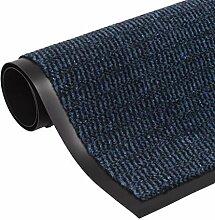 vidaXL Schmutzfangmatte Getuftet 90x150cm Blau