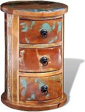 vidaXL Schränkchen mit 3 Schubladen Altholz