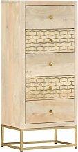 Vidaxl - Schubladenschrank Golden 45x30x105 cm