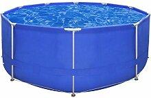 vidaXL Schwimmbecken Planschbecken Schwimmbad Swimming Pool Stahlwand 367x122