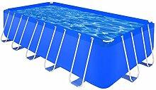 vidaXL Schwimmbecken Planschbecken Schwimmbad Swimmingpool Stahlwand 540x270x122
