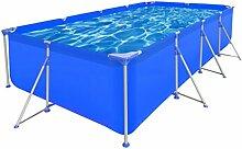 vidaXL Schwimmbecken Stahlwand 394x207x80cm