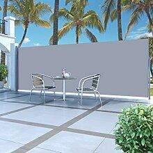 vidaXL Seitenmarkise 180x500cm Grau Sichtschutz
