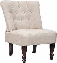 vidaXL Sessel,creme gefasstener gemütlicher Sessel französischen Stil 240286