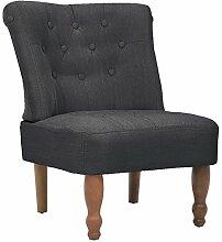 vidaXL Sessel grau gefasstener gemütlicher Sessel