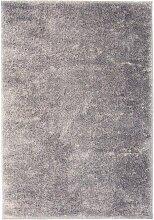 vidaXL Shaggy-Teppich 140 x 200 cm Grau