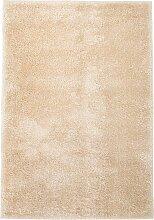 vidaXL Shaggy-Teppich 160 x 230 cm Beige