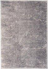 vidaXL Shaggy-Teppich 160 x 230 cm Grau