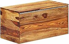 vidaXL Sheesham-Holz Massiv Aufbewahrungstruhe