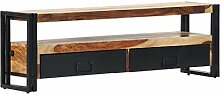 vidaXL Sheesham-Holz Massiv TV Schrank Tisch Board