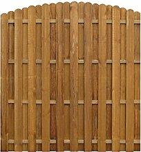 vidaXL Sichtschutzzaun 170x(156-170)cm Kiefer Gartenzaun Dichtzaun Holz Zaun