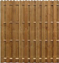 vidaXL Sichtschutzzaun 170x170 cm Kiefernholz Gartenzaun Dichtzaun Zaun Holzzaun