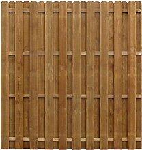 vidaXL Sichtschutzzaun Gartenzaun Dichtzaun 170x170 cm Kiefernholz Imprägnier