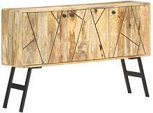 vidaXL Sideboard 118 x 30 x 75 cm Massivholz Mango