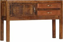 vidaXL Sideboard 118x30x75 cm Massivholz Mango