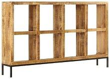 vidaXL Sideboard 160 x 25 x 95 cm Mangoholz Massiv
