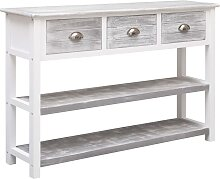 vidaXL Sideboard Antik-Grau 115 x 30 x 76 cm Holz