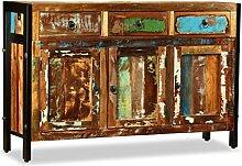 vidaXL Sideboard Antik Recyceltes Massivholz