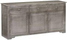 vidaXL Sideboard Grau 160 x 40 x 80 cm Massivholz