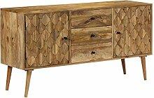 vidaXL Sideboard Mangoholz 145x40x75cm Anrichte