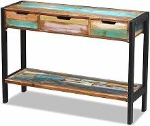Vidaxl - Sideboard mit 3 Schubladen 110x35x75cm