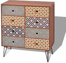 vidaXL Sideboard Schrank Kommode Schubladen Kabinett Anrichte Retro Design Braun