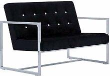 vidaXL Sofa 2-Sitzer mit Armlehnen Polstersofa