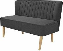 vidaXL Sofa 2-Sitzer Stoff Dunkelgrau Stoffsofa