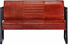vidaXL Sofa 2-Sitzer Vintage Ledersofa Polstersofa