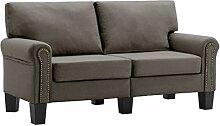 vidaXL Sofa 2-Sitzer Zweisitzer Loungesofa