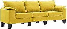 vidaXL Sofa 3-Sitzer Dreisitzer Loungesofa