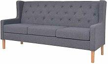 vidaXL Sofa 3-Sitzer Dreisitzer Stoffsofa