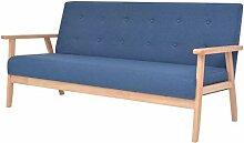 vidaXL Sofa 3-Sitzer mit Armlehnen Dreisitzer