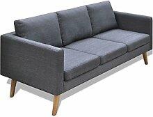 vidaXL Sofa 3-Sitzer Polstersofa Stoffsofa Lounge