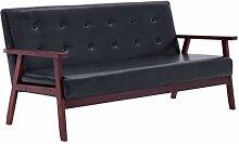 vidaXL Sofa 3-Sitzer Retro Design Polstersofa