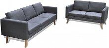 vidaXL Sofa Set 2-Sitzer und 3-Sitzer Stoff