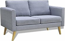 vidaXL Sofa Stoffsofa 2-Sitzer Polstersofa Lounge Couch Holz Design Sitzmöbel