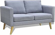 vidaXL Sofa Stoffsofa 2-Sitzer Polstersofa Lounge