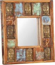 vidaXL Spiegel mit Buddha-Verzierung 50x50 cm