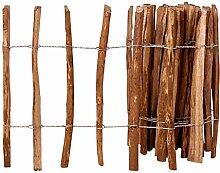 vidaXL Staketenzaun Haselnussholz 60x500cm