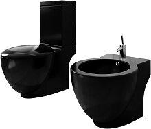 vidaXL Stand-Toilette/WC WC Sitz+Stand-Bidet