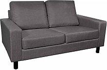 vidaXL Stoffsofa 2 Sitzer Loungesofa Couch